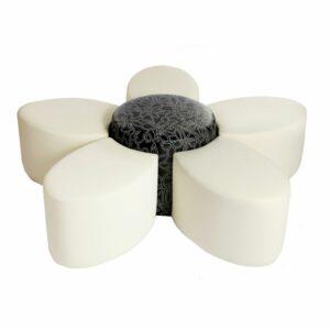 flower shaped modular furniture, queue