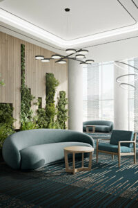 greenery and curved furniture trends by Beaufurn, Jewel sofa