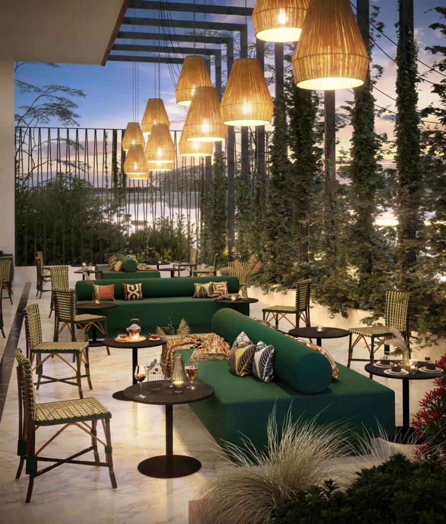 Queue outdoor mega bench for designed outdoor spaces