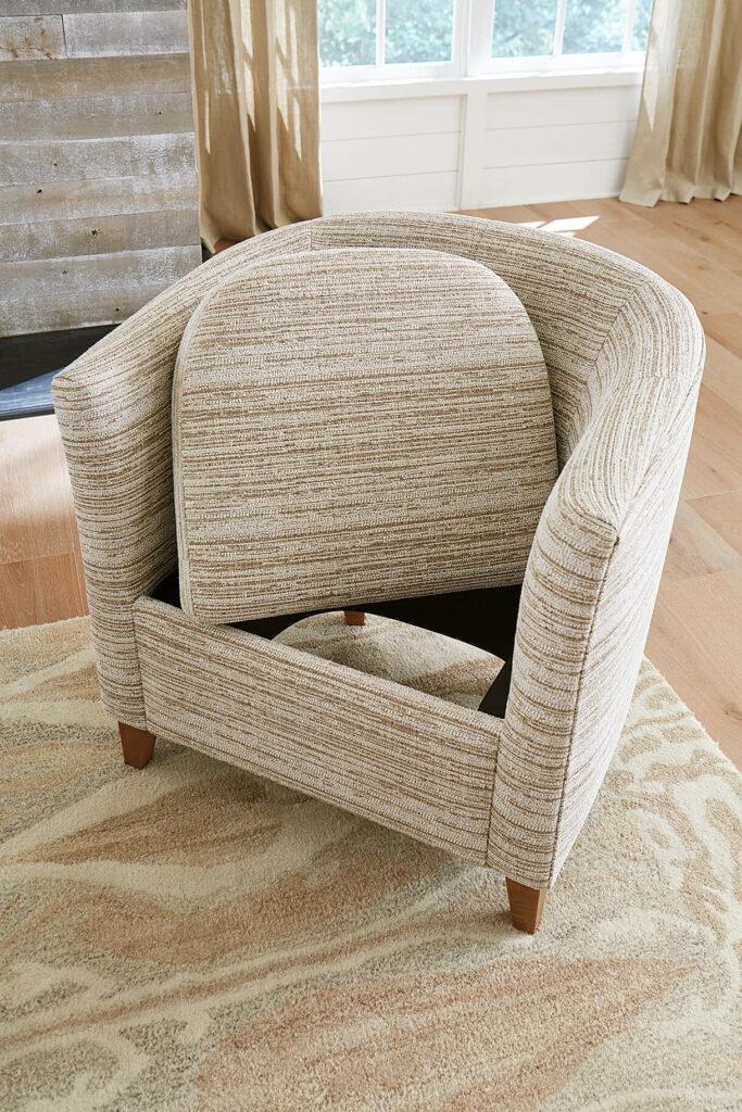 removeable cushions, senior living chair