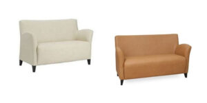 Abie Lounge in two fabrics