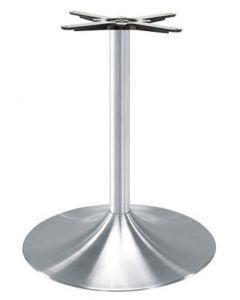 90135 Table Base Brushed aluminum trumpet base