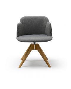 Deja Armchair Wood Leg