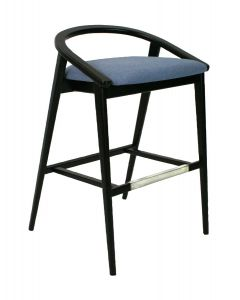 Finley Barstool with Wood Back