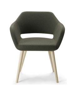 Larsen Arm Chair Wood Leg