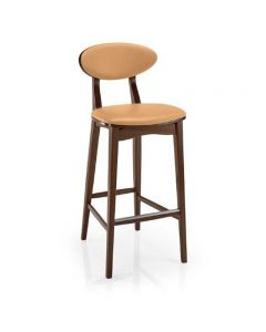 Lena Barstool Wood Uph Seat and Back