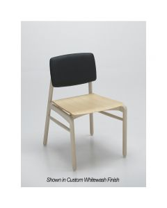Zot Side Chair UPH Back Wood Seat SL 04